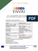 D7.1 ENVRIplus Data Processing Design v2.0