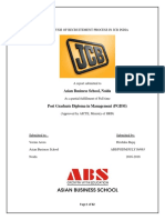 Analysis of Recruitement Process in Jcb India