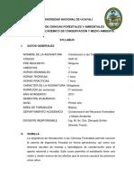 Silabo de Introduccion a Las Ciencias Forestales PDF