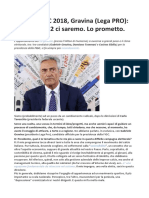 Gravina FIGC, Dobbiamo Lanciare Una Grande Candidatura Per Euro2028