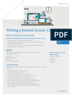 Writing a journal article cheat sheet