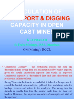 Dumper Cycle Time Transport Digging Capacity Calculation