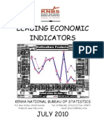 KNBS Leading Economic Indicators July 2010