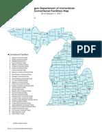 MDOC Facilities Map