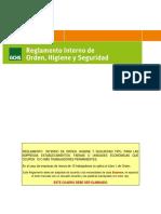 Reglamento Tipo de Orden Higiene y Seguridad 2018