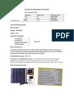 Calculos de Instalacion Fotovoltaica