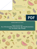 Manual de Apoio Para as Atividades Tcnicas Do Nutricionista No Mbito Do PNAE