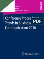 T Becker, P Schneckenleitner, W Reitberger, A Brunner-Sperdin-Conference Proceedings Trends in Business Communicati