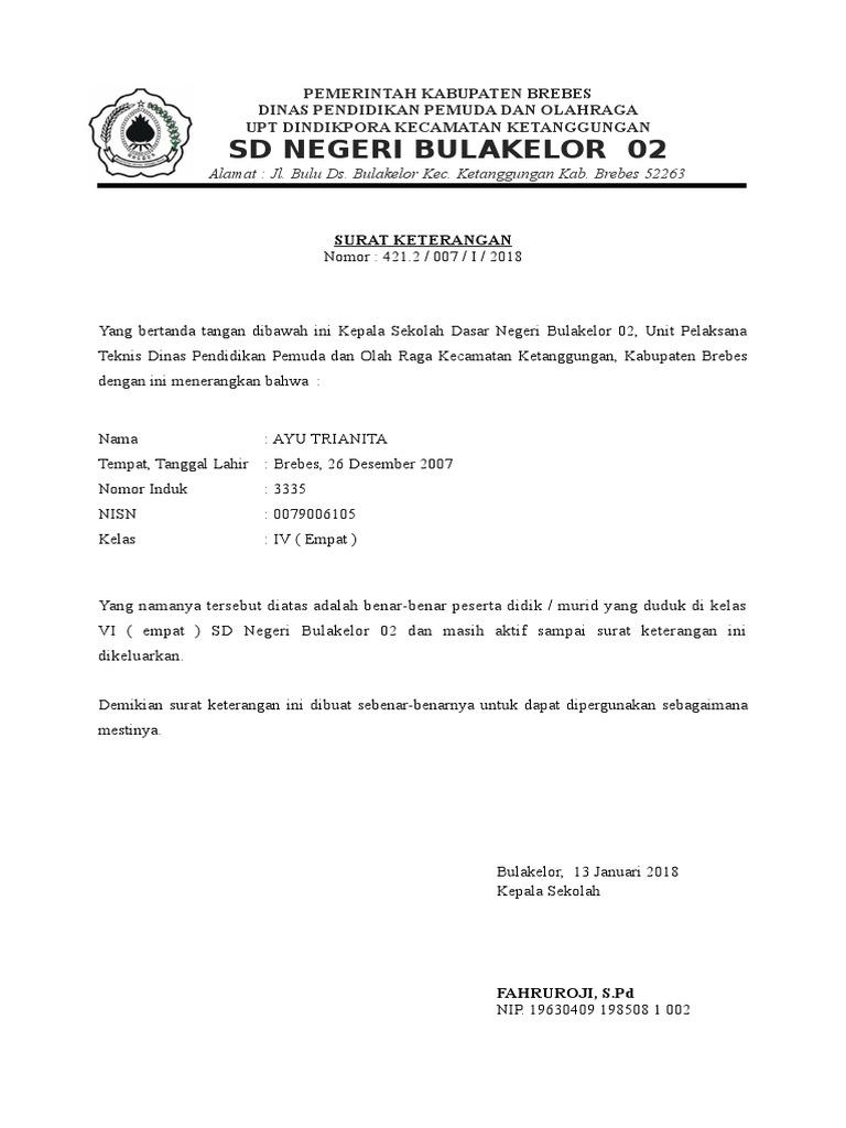 Kop Surat Dinas Pendidikan Kabupaten Brebes - Contoh Kop Surat