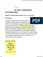 Dire Et Vouloir Dire _ Implications Philosophiques Cavell Must We Mean