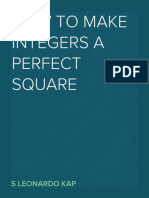 How to find Perfect square root of any positive integer