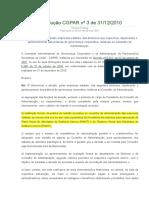 Resolução Nº 03, De 31.12.2010 - CGPAR - Práticas de Governança Do Conselho de Administração