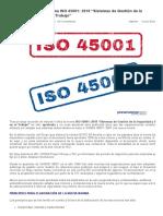 Aprobada La Nueva Norma ISO 45001_ 2018 _SIG SST