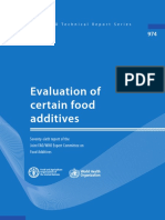 Evaluation of Food Additive