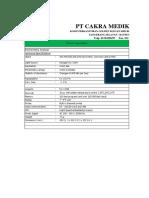 Spesifikasi -  Intherma 168