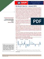 India Pre-Budget Analysis - Jan 2018