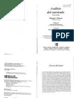 Posner (2005). Cap 4 Propósito y contenido del currículo. Conceptos básicos
