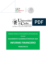 Informe Financiero Trimestre 2014