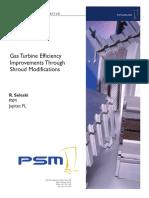 Gas Turbine Efficiency Shroud Modifications