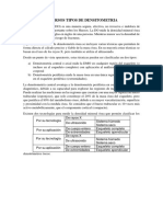Diversos Tipos de Densitometria