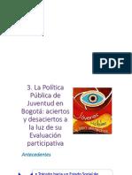Evaluacion Participativa de La PPJ en Bogota Que y Como