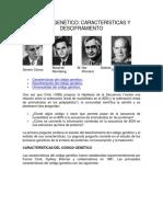 Características y Desciframiento Código Genético