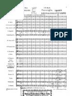 Bach-Passacalia Orchestra score