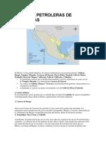 Cuencas Petroleras de Mexicanas