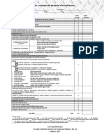 Hoja de Evaluación de Evaluación Del Paciente