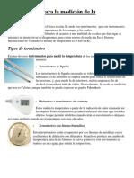 Instrumentos Para La Medición de La Temperatura
