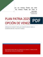Plan Patria 2025_ La Opción de Venezuela