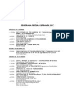 Programa Oficial Carnaval 2017