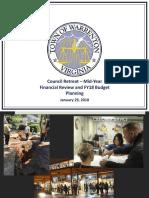 FY19 Finance Budget Retreat 012918
