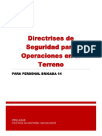 Directrices de Seguridad en Operaciones en El Terreno