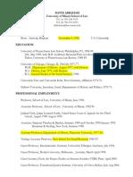 David Abraham - Curriculum Vitae