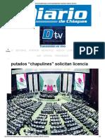 25-01-18 Diputados Chapulines Solicitan Licencia