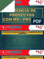 Gerencia de Proyectos Ms- Project