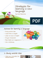 Strategies for Learning a New Language