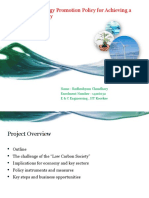 Renewable Energy Promotion Policy for Achieving A