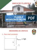 Clase II Medidores de Orificio y Descarga hidraulica 2