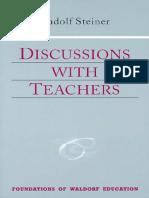 Steiner Rudolf - Discussions With Teachers