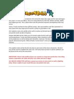 Dragon Ball R&R Audition Slate