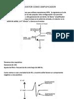 El Transistor Como Amplificador