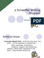 Jane Schaeffer Writing Powerpoint