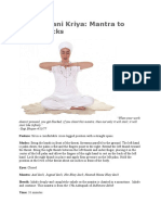 Mandhavani Kriya Mantra to Clear Blocks