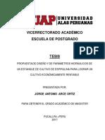Tesis Maestria Ing. Civil UAP de Jorge a. Arce Ortiz, Parametros Hidraulicas de Cultivo Es Espirulina