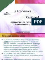 4 Operaciones de Crédito y Financiamiento IND231-VCA - Cap 4 - Parte 1-Rev2