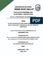 Estudio Definitivo de Canal Pampa Grande - Sector de Riego Chongoyape - Provincia de Chiclayo, Región de Lambayeque