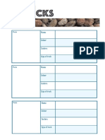 Rocks Classification Sheet