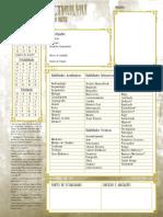 Rastro de Cthulhu - Planilha de Investigador - Completável e Salvável - Biblioteca Élfica